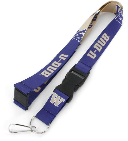 "Washington Huskies Slogan Design 22"" Breakaway Lanyard"