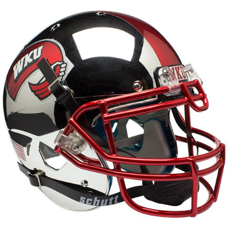 Western Kentucky Hilltoppers Chrome Schutt XP Authentic Helmet - Alternate 1