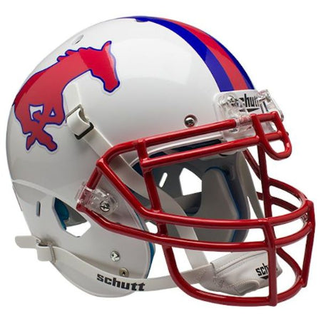 SMU Mustangs Schutt XP Authentic Helmet