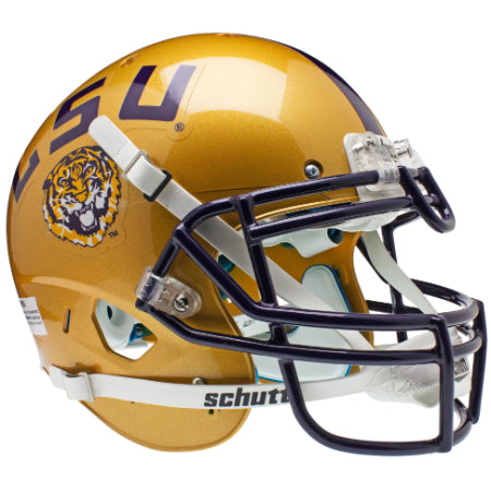 LSU Tigers Gold Schutt XP Authentic Helmet - Alternate 1