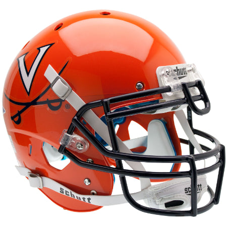 Virginia Cavaliers Orange Schutt XP Authentic Helmet - Alternate 1