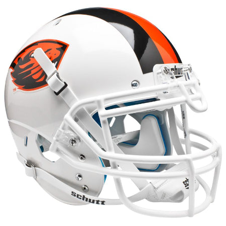 Oregon State Beavers White Schutt XP Authentic Helmet - Alternate 1