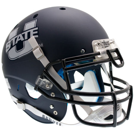 Utah State Aggies Matte Navy Schutt XP Authentic Helmet - Alternate 1
