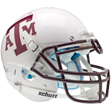 Texas A&M Aggies White Schutt XP Authentic Helmet - Alternate 1