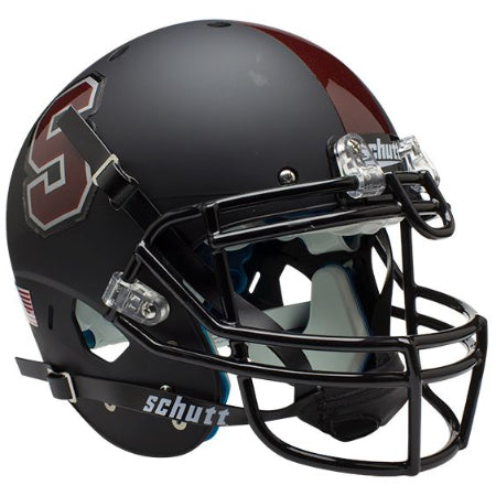 Stanford Cardinal Matte Black Schutt XP Authentic Helmet - Alternate 1