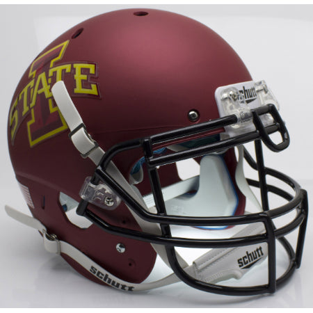 Iowa State Cyclones Matte Maroon Schutt XP Authentic Helmet - Alternate 1