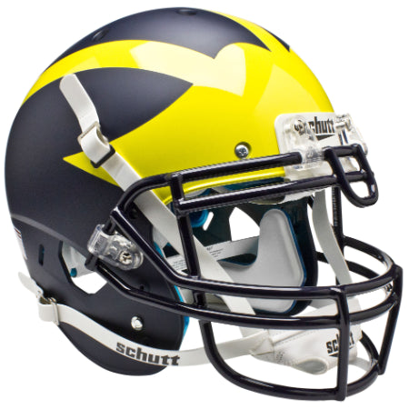 Michigan Wolverines Matte Blue Schutt XP Authentic Helmet - Alternate 1