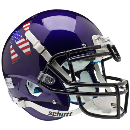 Northwestern Wildcats Stars & Stripes Schutt XP Authentic Helmet - Alternate 1