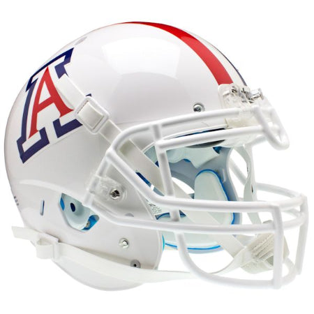 Arizona Wildcats White with Stripe Schutt XP Authentic Helmet - Alternate 1