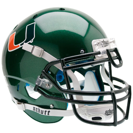 Miami Hurricanes Green Schutt XP Authentic Helmet - Alternate 1
