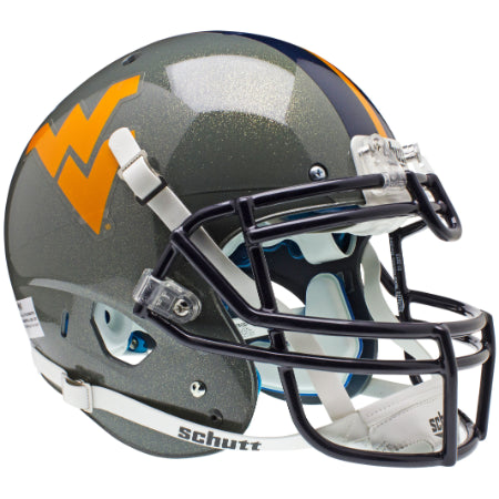 West Virginia Mountaineers Grey Schutt XP Authentic Helmet - Alternate 1
