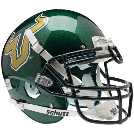 South Florida Bulls Green Schutt XP Authentic Helmet - Alternate 1