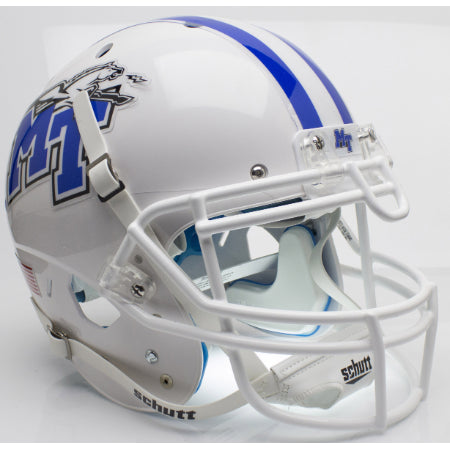 Middle Tennessee State Blue Raiders White Schutt XP Authentic Helmet - Alternate 1