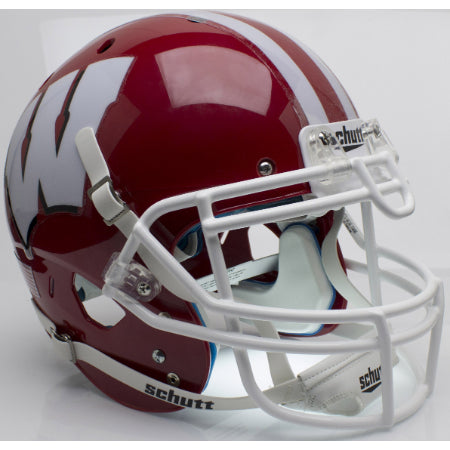Wisconsin Badgers Scarlet Schutt XP Authentic Helmet - Alternate 1