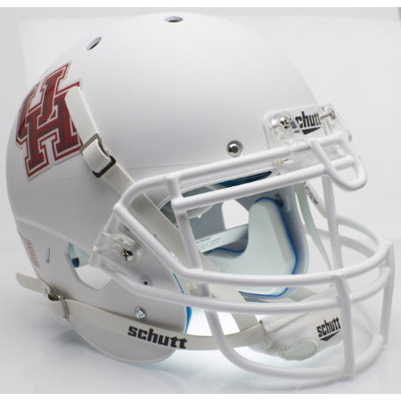 Houston Cougars Matte White Schutt XP Authentic Helmet - Alternate 1