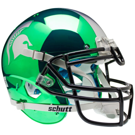 Michigan State Spartans Chrome Schutt XP Authentic Helmet - Alternate 2