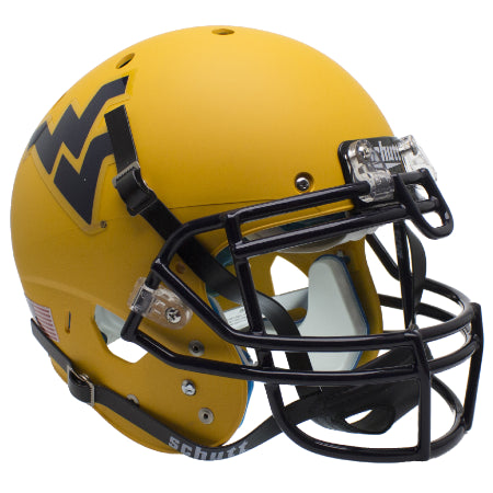 West Virginia Mountaineers Gold Schutt XP Authentic Helmet - Alternate 2