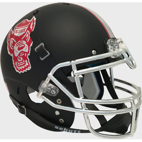 North Carolina State Wolfpack Matte Black Schutt XP Authentic Helmet - Alternate 2