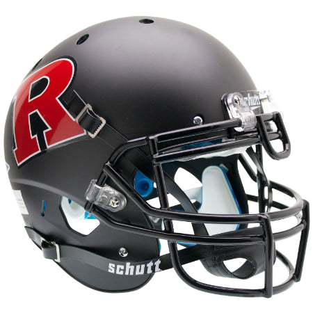 Rutgers Scarlet Knights Matte Black Red R Schutt XP Authentic Helmet - Alternate 2