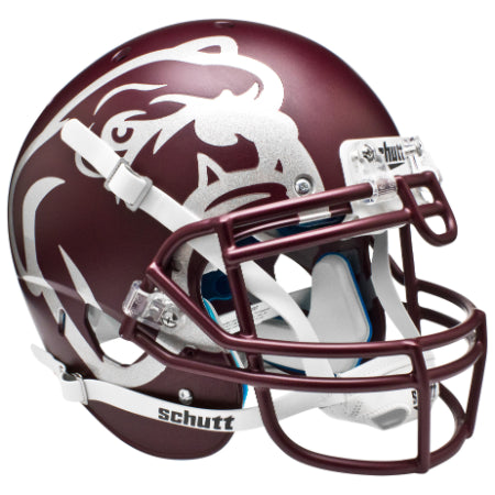 Mississippi State Bulldogs Matte Maroon Aqua Tech Schutt XP Authentic Helmet - Alternate 2