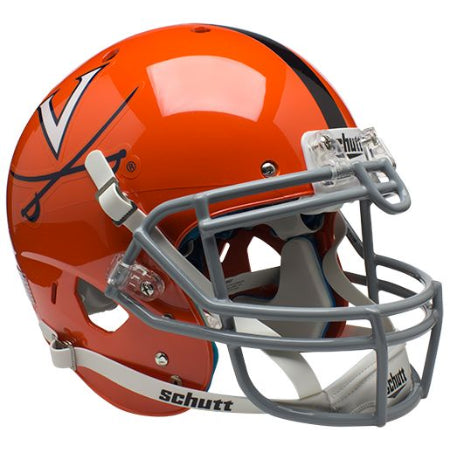 Virginia Cavaliers Orange with Stripe Schutt XP Authentic Helmet - Alternate 2