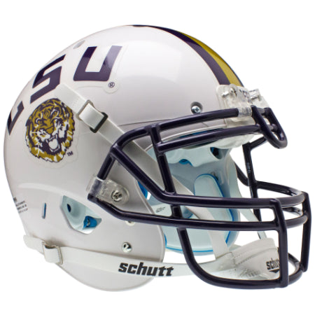 LSU Tigers White Schutt XP Authentic Helmet - Alternate 2