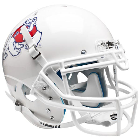 Fresno State Bulldogs White Schutt XP Authentic Helmet - Alternate 2