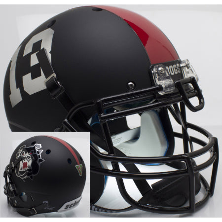 Fresno State Bulldogs Matte Black Schutt XP Authentic Helmet - Alternate 3