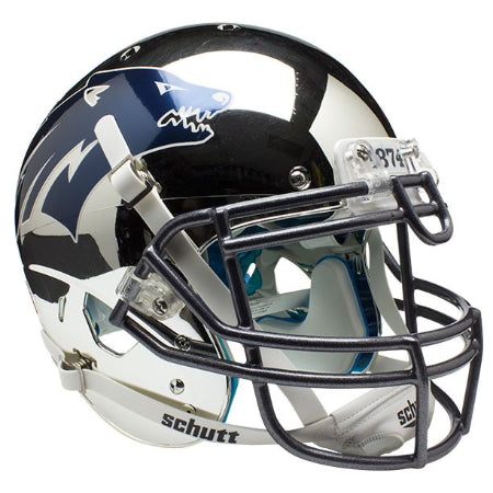 Nevada Wolfpack Chrome Silver Schutt XP Authentic Helmet - Alternate 3