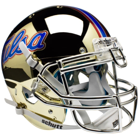 Tulsa Golden Hurricane Chrome Schutt XP Authentic Helmet - Alternate 3