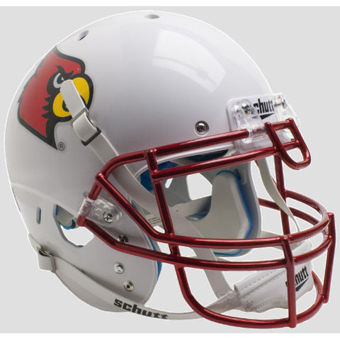Louisville Cardinals Chrome Mask Schutt XP Authentic Helmet - Alternate 3