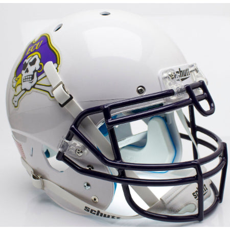 East Carolina Pirates White Schutt XP Authentic Helmet - Alternate 3