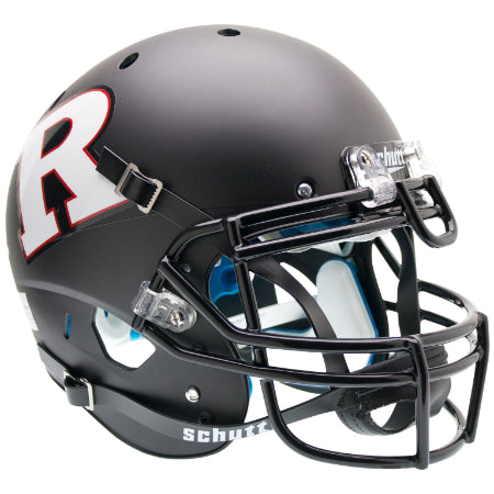 Rutgers Scarlet Knights Matte Black White R Schutt XP Authentic Helmet - Alternate 3