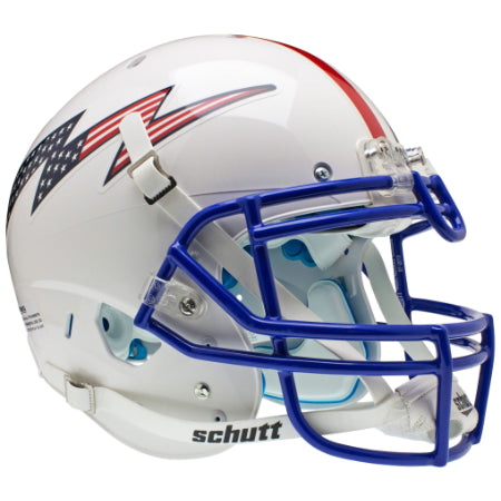 Air Force Falcons Stars & Stripes with Top Stripe Schutt XP Authentic Helmet - Alternate 3