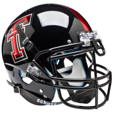 Texas Tech Red Raiders Chrome Logo Schutt XP Authentic Helmet - Alternate 4