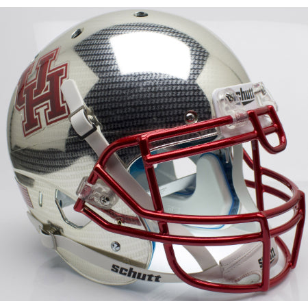 Houston Cougars Aqua Tech Schutt XP Authentic Helmet - Alternate 4