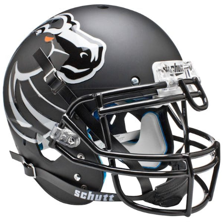 Boise State Broncos Matte Black Schutt XP Authentic Helmet - Alternate 4