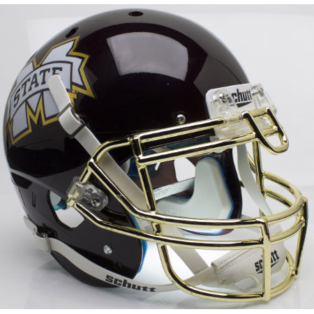 Mississippi State Bulldogs Chrome Gold Mask Schutt XP Authentic Helmet - Alternate 4