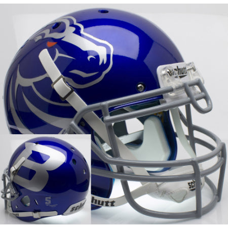 Boise State Broncos Silver B Schutt XP Authentic Helmet - Alternate 5