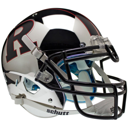 Rutgers Scarlet Knights Chrome Black R with Stripe Schutt XP Authentic Helmet - Alternate 5