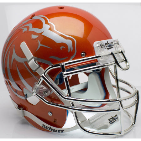 Boise State Broncos Orange with Chrome Mask Schutt XP Authentic Helmet - Alternate 6