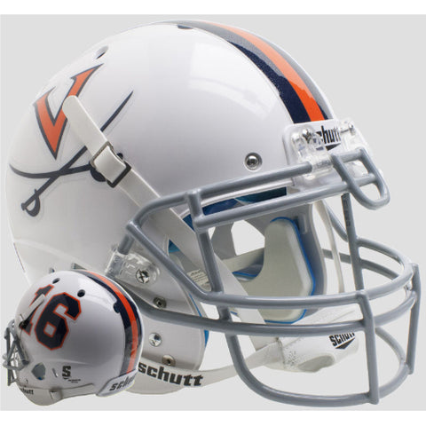 Virginia Cavaliers White 16 Schutt XP Authentic Helmet - Alternate 6
