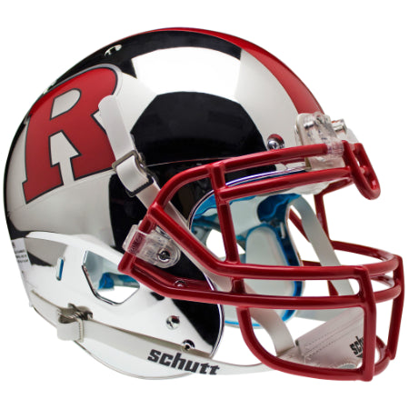 Rutgers Scarlet Knights Chrome Red R with Stripe Schutt XP Authentic Helmet - Alternate 6