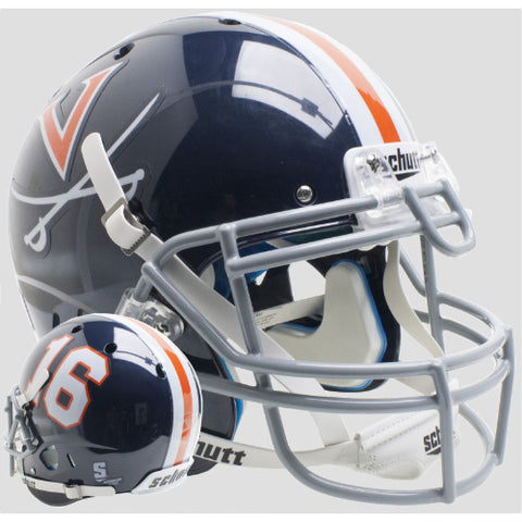 Virginia Cavaliers Blue 16 Schutt XP Authentic Helmet - Alternate 7