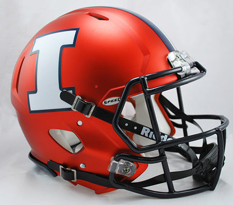 Illinois Fighting Illini Riddell Authentic Speed Helmet - 2014 Orange