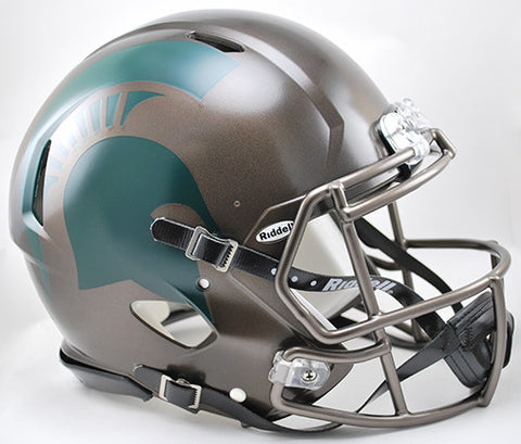 Michigan State Spartans Riddell Authentic Speed Helmet - Bronze