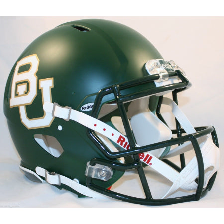 Baylor Bears Riddell Authentic Speed Helmet - Matte Green