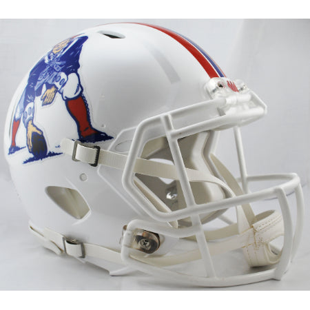 New England Patriots Minuteman Logo Riddell Authentic Speed Helmet