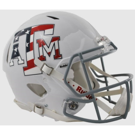 Texas A&M Aggies Riddell Authentic Speed Helmet - Stars & Stripes