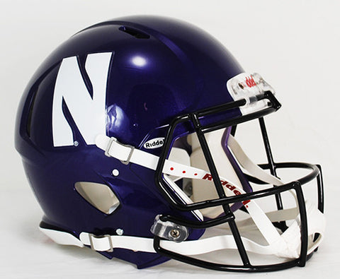 Northwestern Wildcats Riddell Authentic Speed Helmet